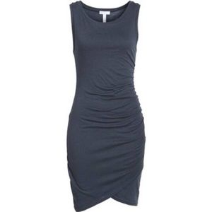 Leith Black Tank Ruched Dress